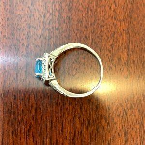 Blue Topaz Ring 925 Sterling Silver